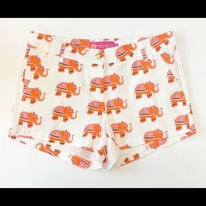 MACBETH COLLECTION Elephant Print Shorts